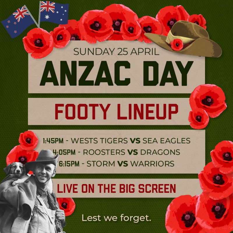 anzac day footy lineup